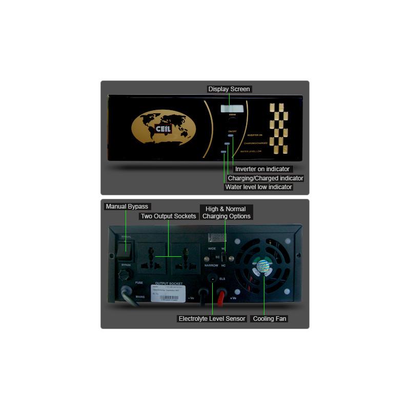Ceil 1450 VA / 1160 Watt Plug and Play Pure Sine Wave Inverter Charger
